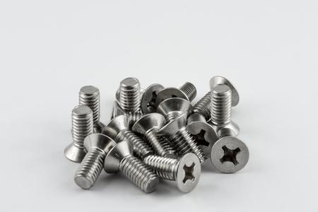 tornillos: Macro de los tornillos de metal