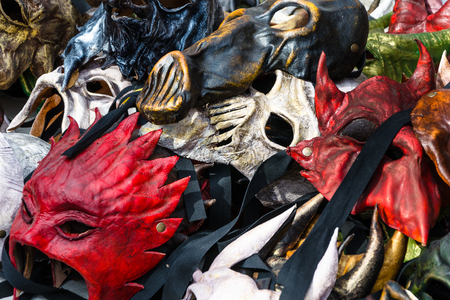 Exposing of some carnival old masks