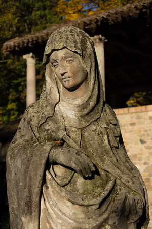 Very old madonna statue