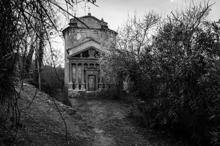 A small Gothic church Stock Photo