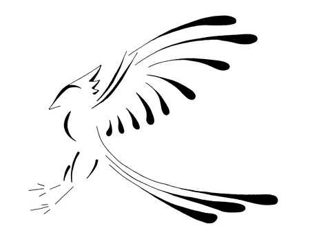 mythical phoenix bird: Bird Landing