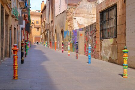 astonishing: The picture was taken in Spain, in the ancient city of Tarragona. The picture shows surprisingly brightly colored street in the old district.