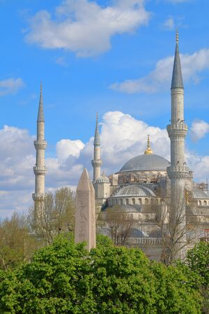 domes and minarets of one of the main mosques in Istanbul.