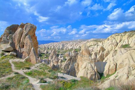 Photo taken in Turkey. The picture shows a mountain landscape of the area in Anatolia.