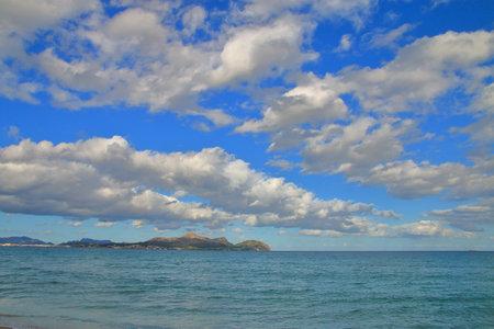 Photo taken on the island of Palma de Mallorca in Alcudia. The picture shows a seascape.