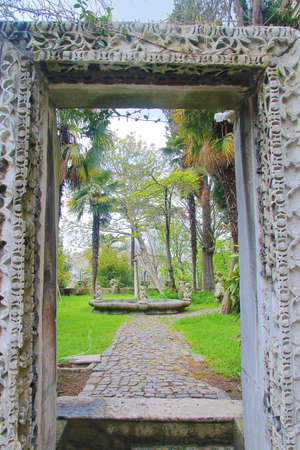 The photo was taken in Istanbul. The picture shows the unusual entrance to the old park.