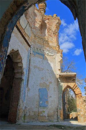The Kurisov estate. Odessa region. Ukraine - April 03, 2021. The photo shows the old Kurisov estate in Ukraine.