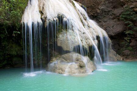 Monta waterfall creek nature of these en room tapioca root fresh tropical greenery Stock Photo - 17179547