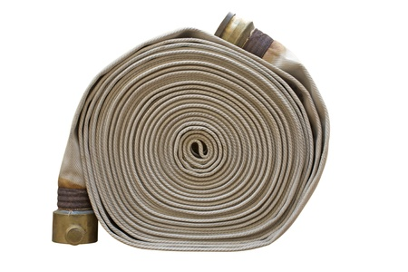 firefighter hose isolated on the white background