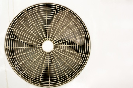 Condenser fan air through the use of old rust. photo