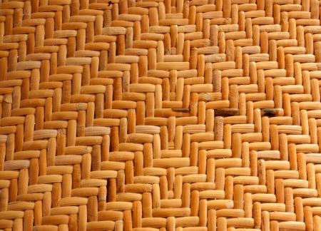 Woven rattan with natural patterns, vintage wall. photo