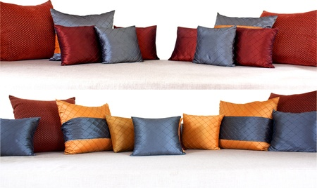 The colorful pillows scattered on the table. Stock Photo - 18367531