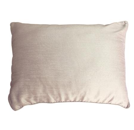 pillow case: pillow with white pillow case on white background Stock Photo