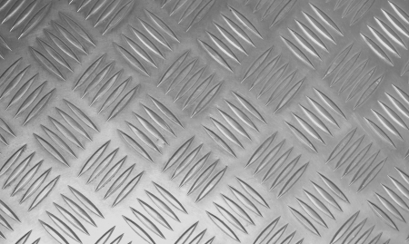 Rugged old anti-slip metal  floor  stainless steel. Stock Photo