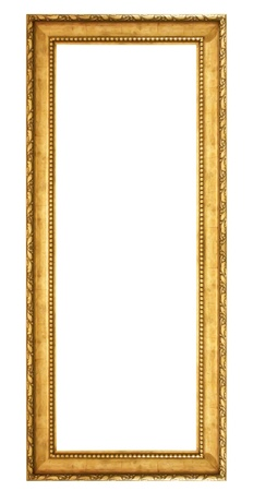 antique gold frame isolated on white background 写真素材