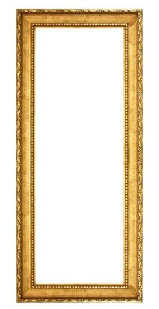 antique gold frame isolated on white background Standard-Bild