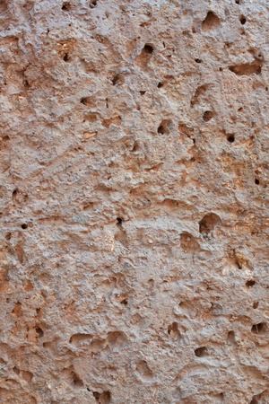 red clay: Ancient clay walls rough red clay porous. Stock Photo
