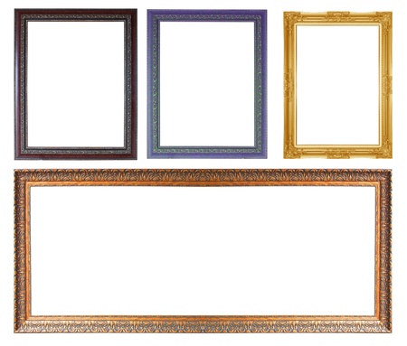 The antique frame isolated on white background. Stock Photo