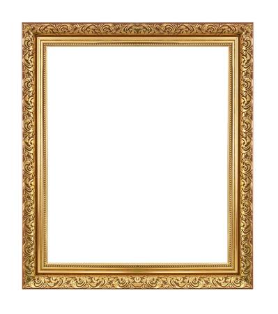 Frame or antique isolé sur fond blanc. Banque d'images - 20119666