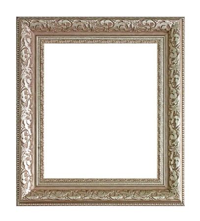 woode picture frame. Isolated over white background