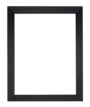 black antique frame isolated on white background. 版權商用圖片