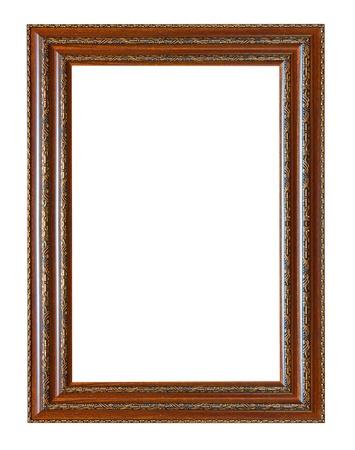 Ancien cadre en bois isolé sur fond blanc. Banque d'images - 20446800