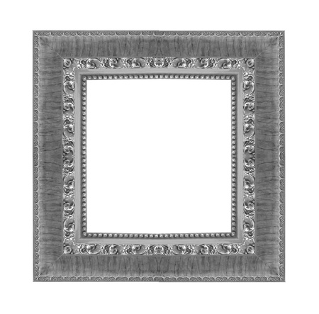matted: Old Antique frame Isolated Decorative Carved Wood Stand Antique Frame Isolated On White Background
