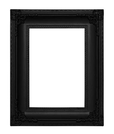 Antique Black  Frame isolated on White Background photo