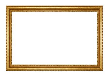 Vieux cadre doré antique isolé décoratif sculpté en bois stand Antique Cadre noir isolé sur fond blanc Banque d'images - 22043750