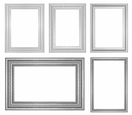 Antique  Black  Frame Isolated On White Background Banco de Imagens