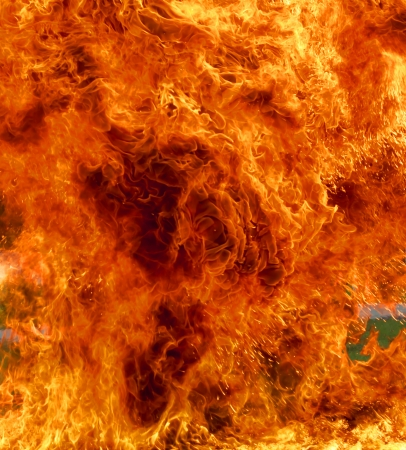 conflagration: Background burning flame red yellow heat energy. Stock Photo