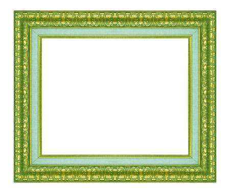 frame on wall: Vecchia parete cornice oro antico, carta da parati, oggetti decorativi isolato sfondo bianco