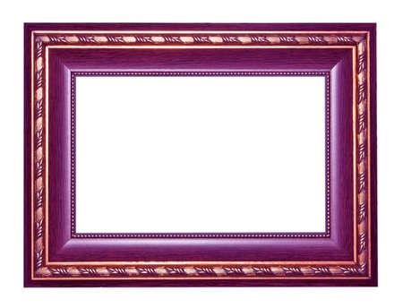 cadre antique: Vieux Antique frame isol� d�coratif sculpt� en bois stand cadre antique isol� sur fond blanc