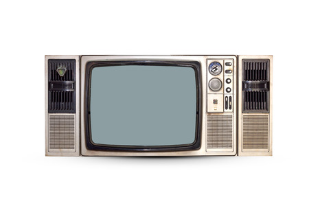 Vintage TV set isolated. Clipping path included.
