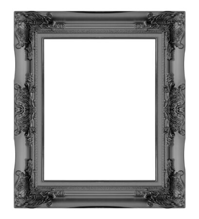 ��wood frame�: Picture frame gold  wood frame in white background.