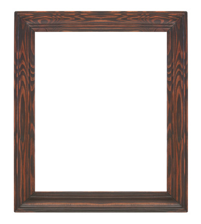 Picture frame black wood frame in white background. photo