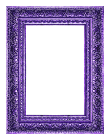 Picture frame wood frame in white background.