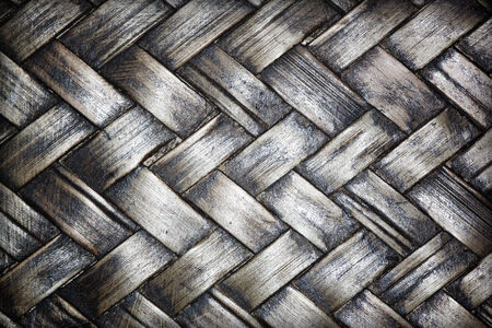 Abstract background of old black vintage bamboo walls.