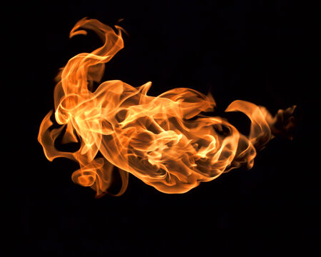 Flames on a black background heat.