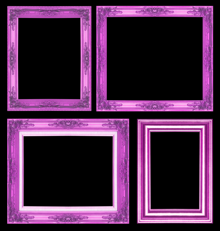glod: Antique glod  frame isolated on  black background Stock Photo