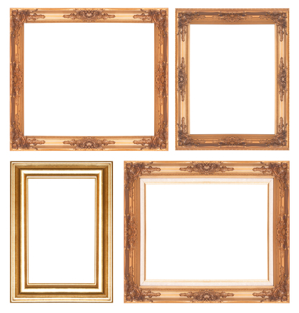 glod: Antique glod  frame isolated on white background