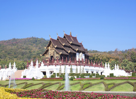 horticultural: Ho kham luang in the international horticultural exposition the northern thai