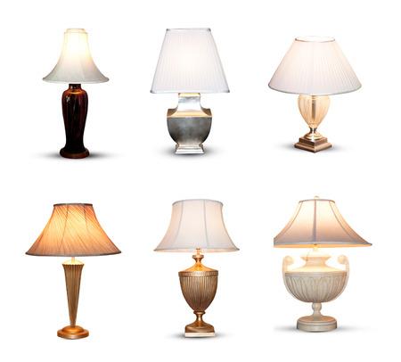 白い背景で隔離の寝室の照明。 写真素材 - 27995412
