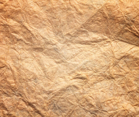 Paper texture brown paper sheet. Sheets of crumpled paper. 写真素材