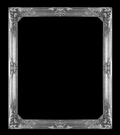 銀画像フレーム分離黒い背景に 写真素材 - 28572804