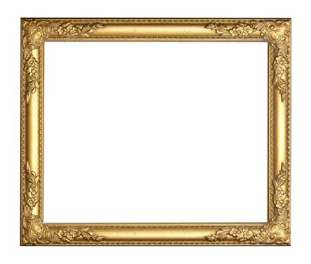 Or vintage frame isolé sur fond blanc Banque d'images - 28962793