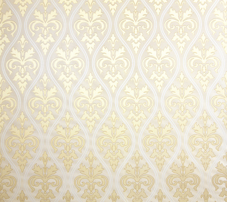 fondo de pantalla: Patrón de papel tapiz floral de color amarillo textura de fondo abstracto interior. Foto de archivo