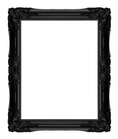 black picture frame: Black picture frame isolated on a white background.