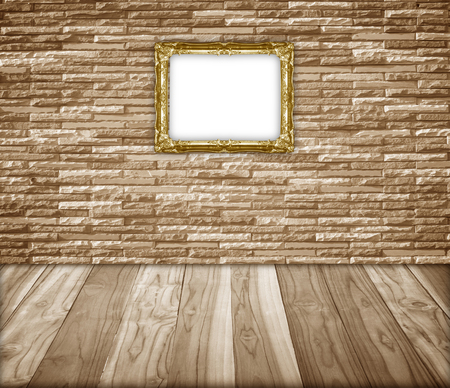 wooden floors: Old wooden floors and stone walls that frame the interior.