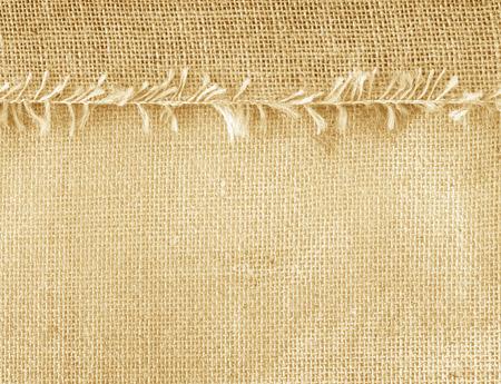 Textile Sacks brown abstract pattern background texture. Standard-Bild